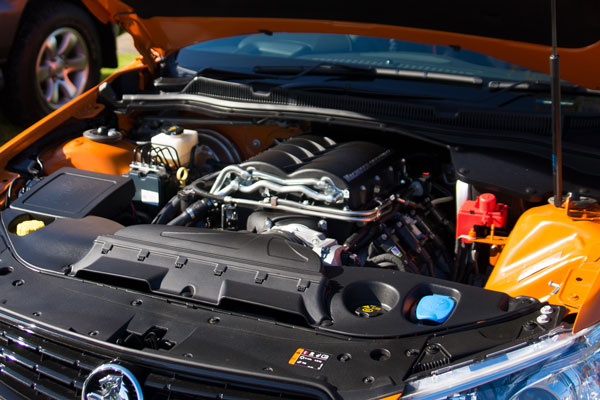 Interior of Peugeot engine bay